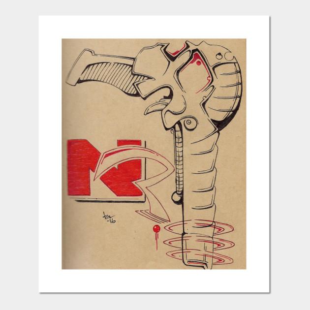 Naked Raygun - Naked Raygun - Wall Art | TeePublic