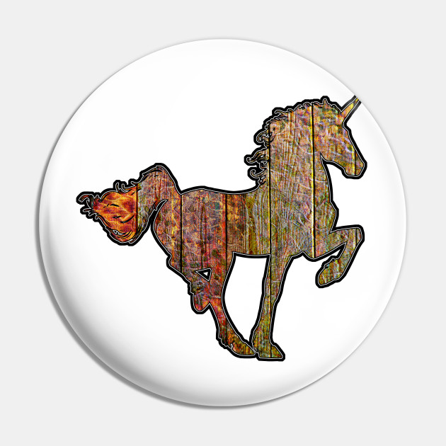 Wooden Sign With Unicorn