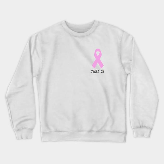 White Think Pink Crewnecks Pink Ribbon Breast Cancer Awareness Sweatshirts