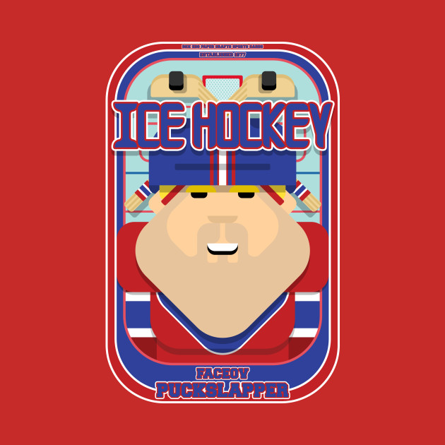 Ice Hockey Red and Blue - Faceov Puckslapper - Sven version