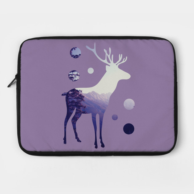 Deer with Mountains and Dots