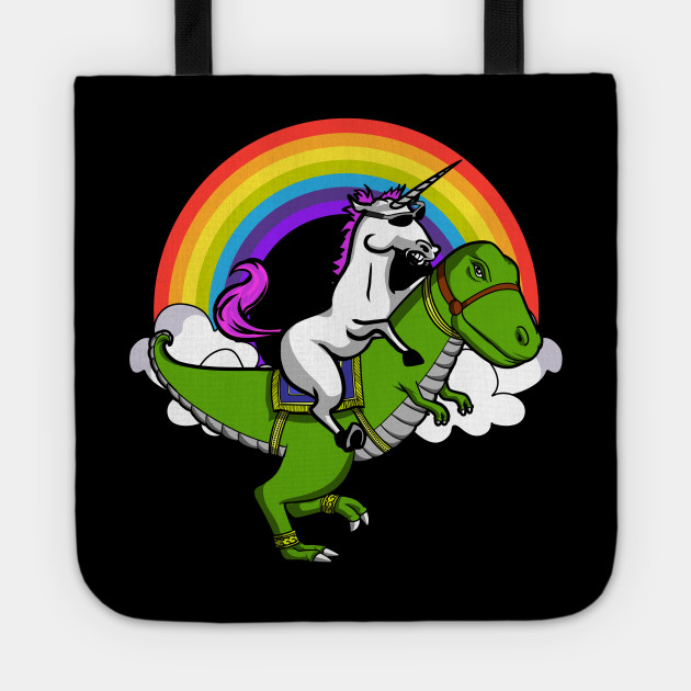 629575c460c Funny Unicorn Riding T-Rex Dinosaur Magical Rainbow - Unicorn Riding ...