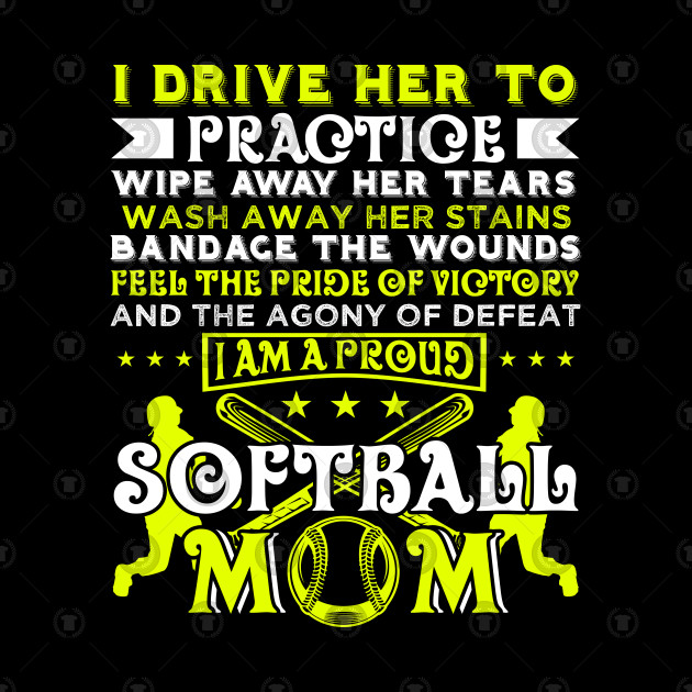Softball Player Coach Fan Funny Quotes by teebazaar