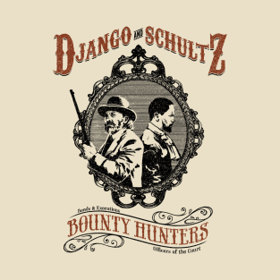 Django and Schultz t-shirts