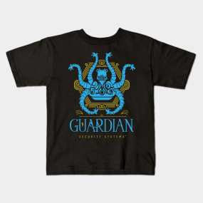 Protected by Guardian Security kids-t-shirt
