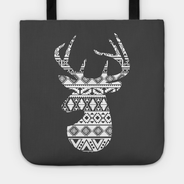 Big Buck Series: Patterned Buck Head (White Graphic)