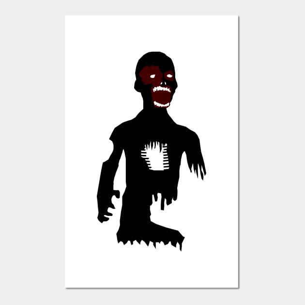 Big Black Zombie - Zombie - Posters and Art Prints | TeePublic UK