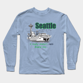 6a10b509e0e99 Seattle Long Sleeve T-Shirts