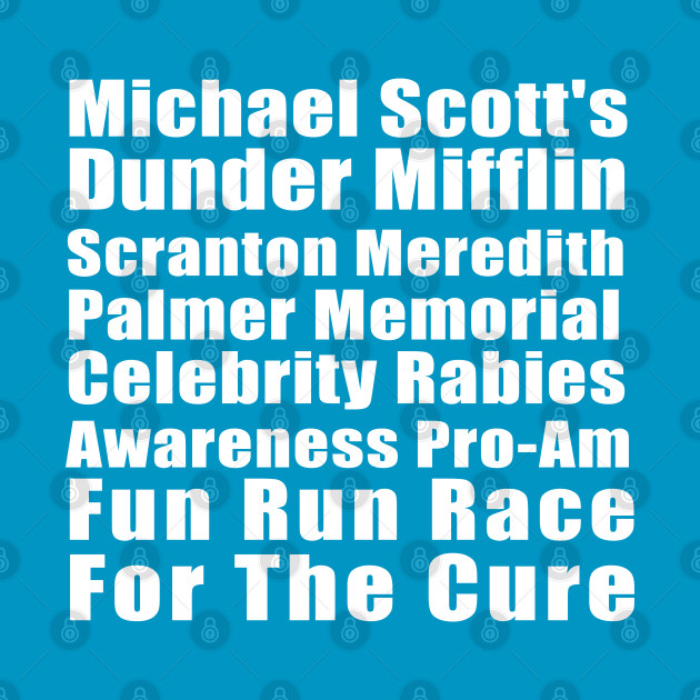 Michael Scott's Dunder Mifflin Fun Run Shirt