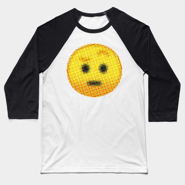 Emoji Suspicious Face With Raised Eyebrow Emojis Baseball T
