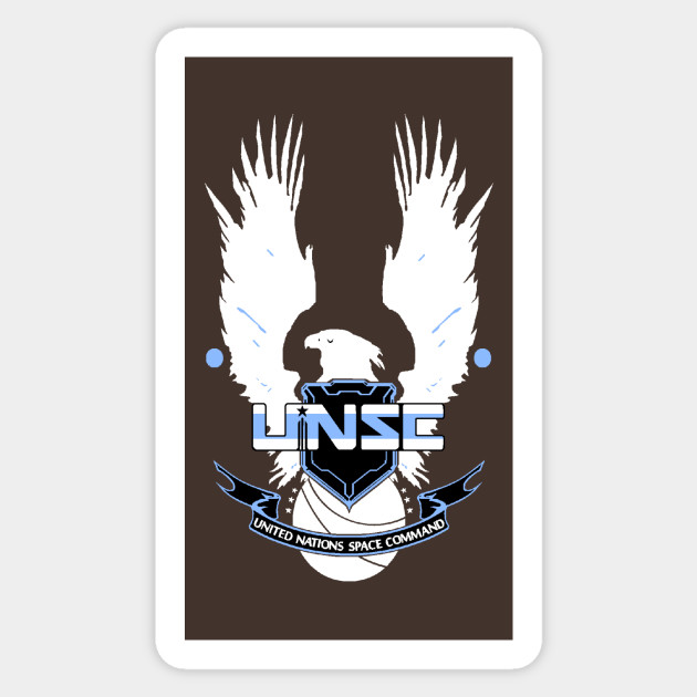 Unsc Logo Halo Sticker Teepublic
