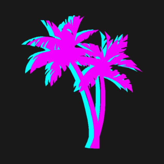 Vaporwave Palm Tree
