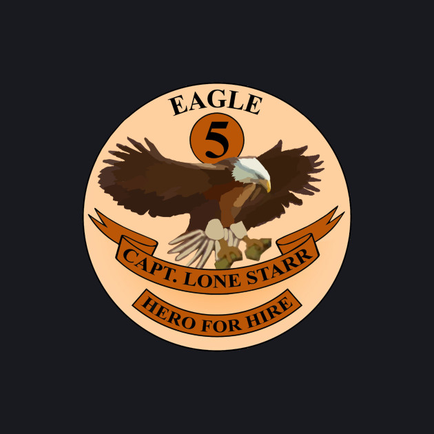 "Spaceballs Eagle 5 Logo ""Hero For Hire"""