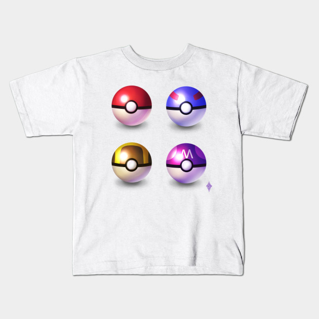 8ce45f54 Pokeballs - Pokemon - Kids T-Shirt | TeePublic