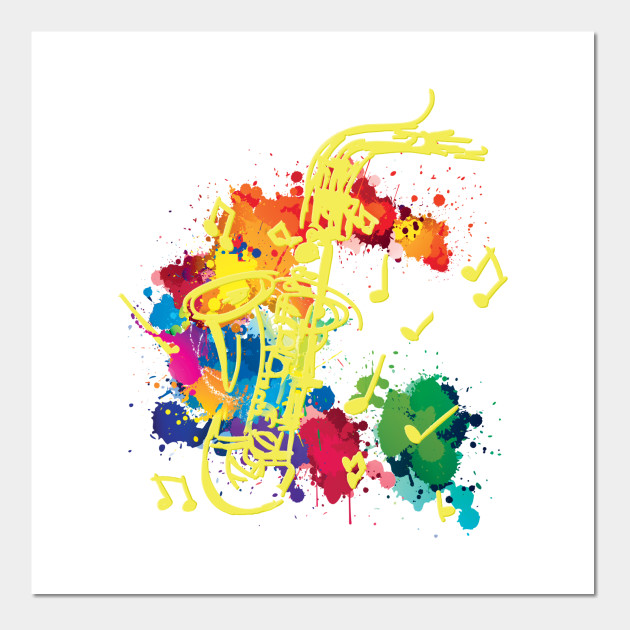 Saxophone Design - Graphic Design - Wall Art | TeePublic
