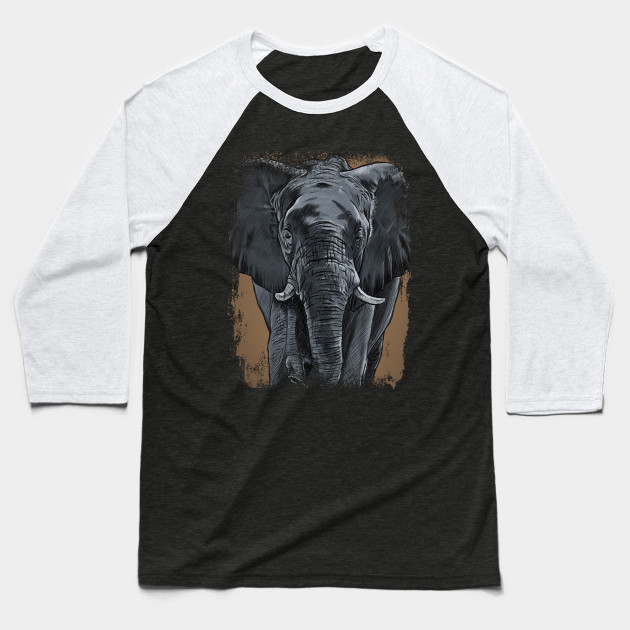 54f56919613ff Elephant Face Baseball T-Shirt