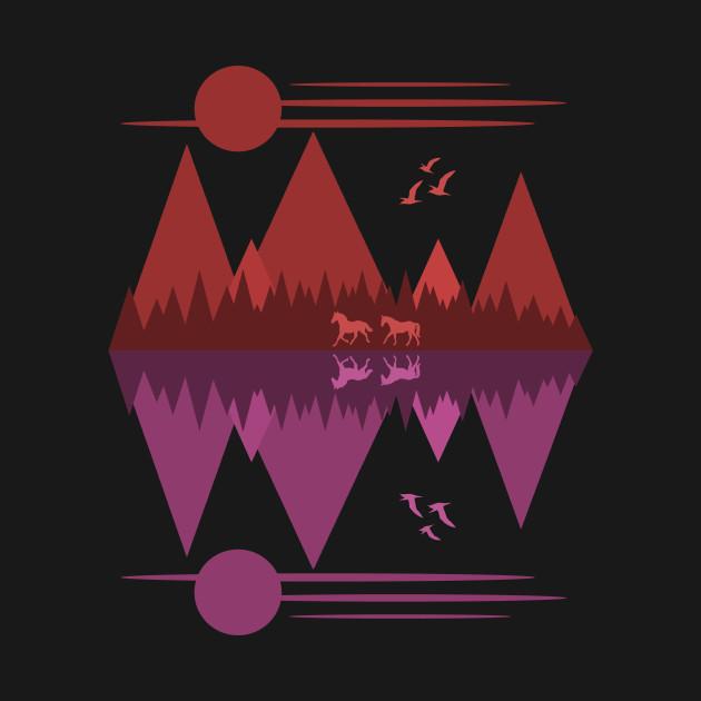 Wild Horses (Red/Purple)