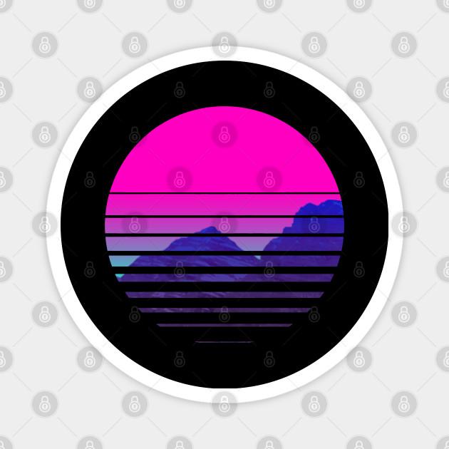 T 500 108 Vaporwave Sunset Mountains Scenery Vaporwave Music