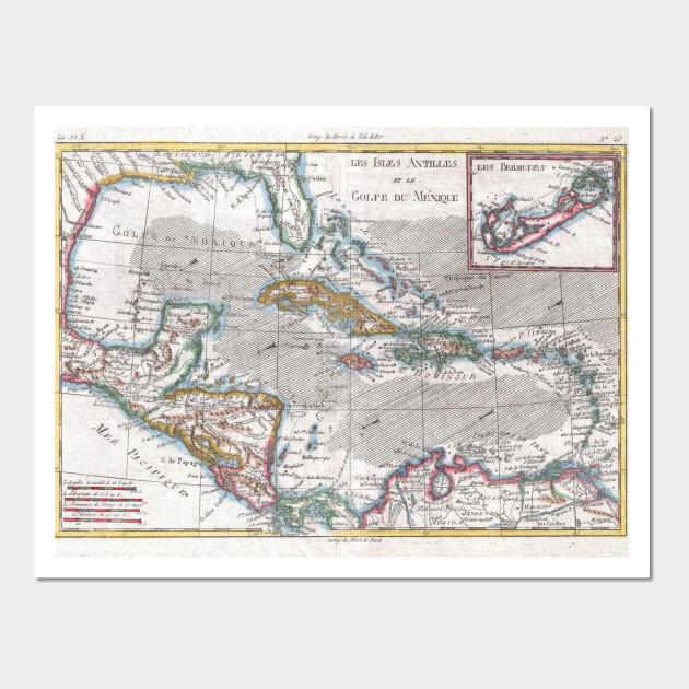 Vintage map of the caribbean 1780 caribbean map wall art 2408530 0 gumiabroncs Gallery