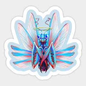 Praying Mantis Stickers Teepublic