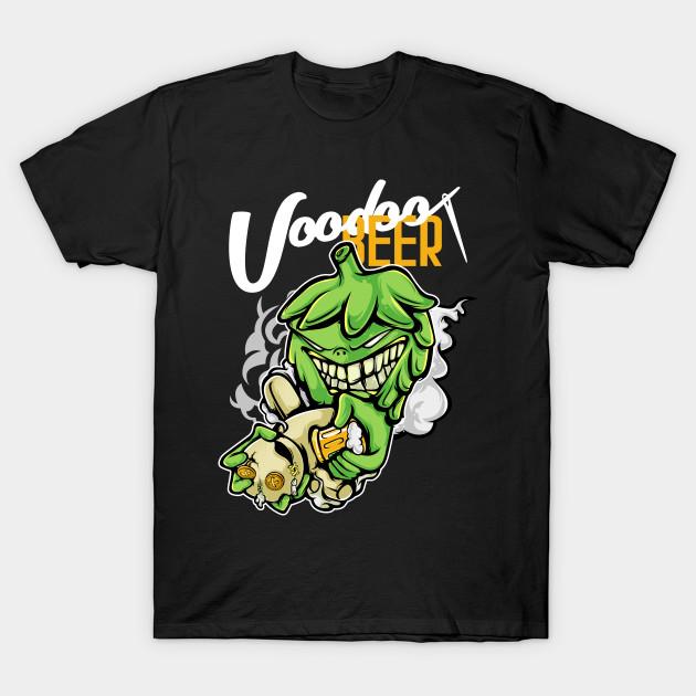 Hops Voodoo Priest with Beer - Voodoo - T-Shirt | TeePublic