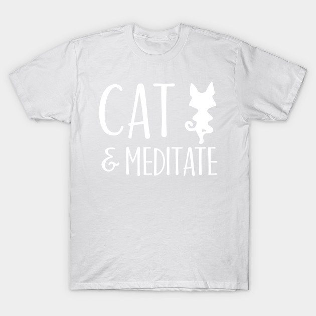 Cat & Meditate T-Shirt-TOZ