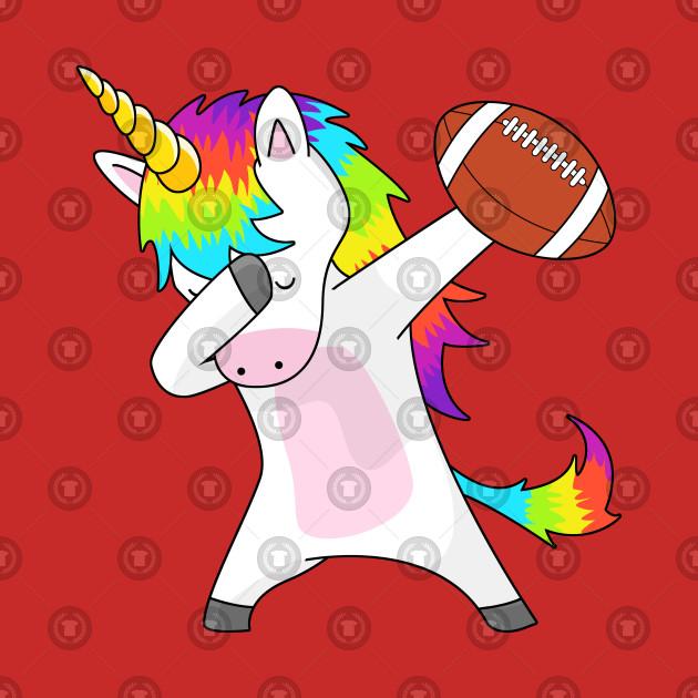 Dabbing Unicorn Football