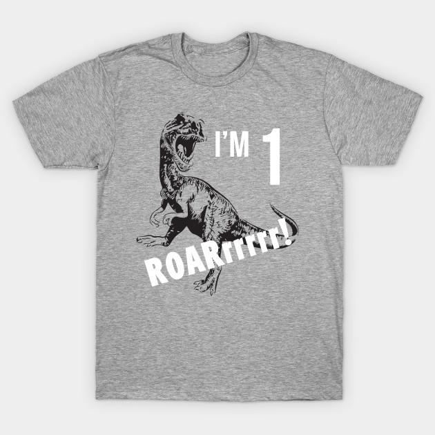 Birthday Boy Shirt For 1 Year Old 1st Gift Dinosaur