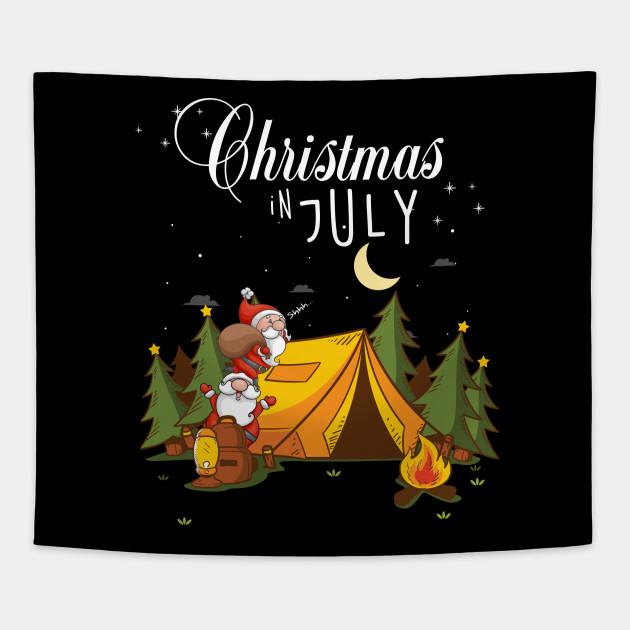 Christmas In July Camping.Christmas In July Festival Funny Camping Tshirt Xmas Shirt