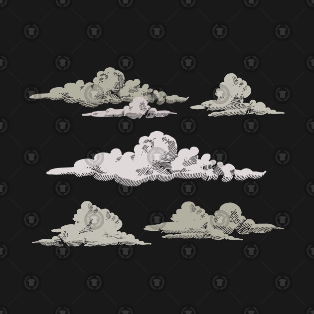 Hand Drawn Grey Clouds
