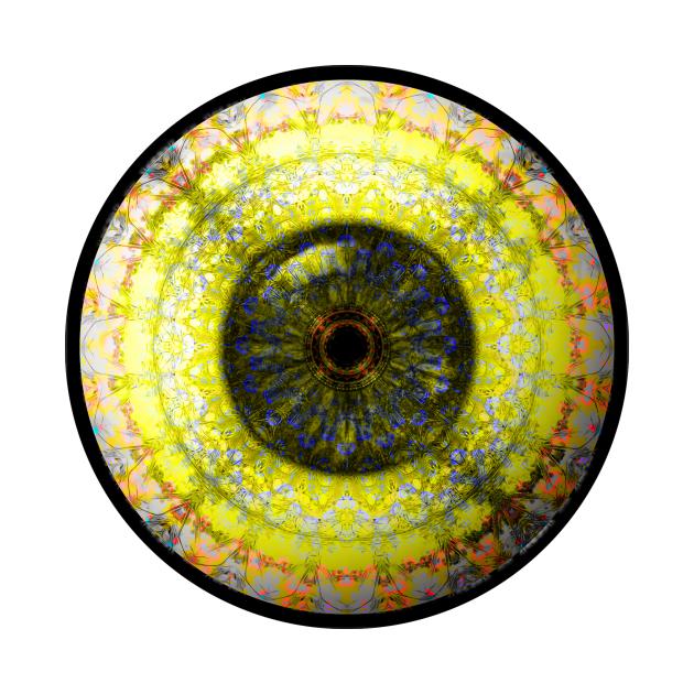 Yellow Glass Eyball Jewel