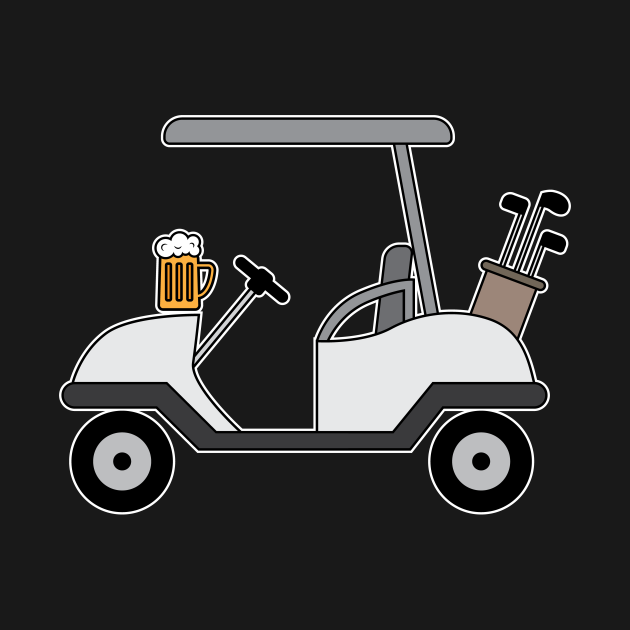 Golf Cart and Beer