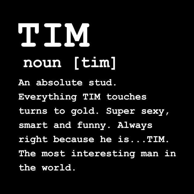 Adult Definition - First Name Tim Men