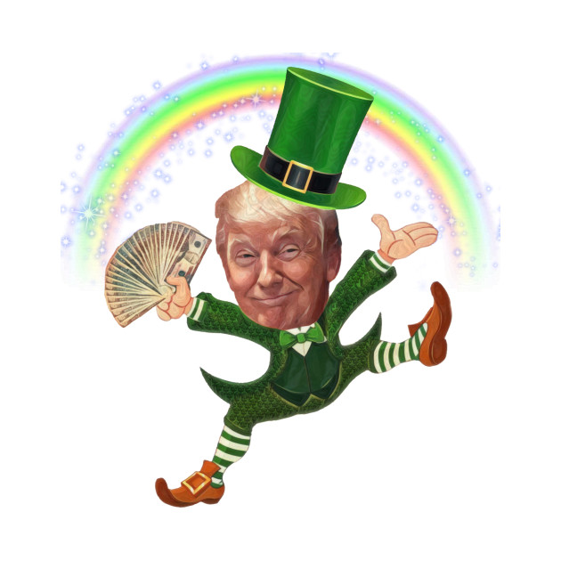 Trump leprechaun st patricks day t shirt teepublic trump leprechaun trump leprechaun altavistaventures