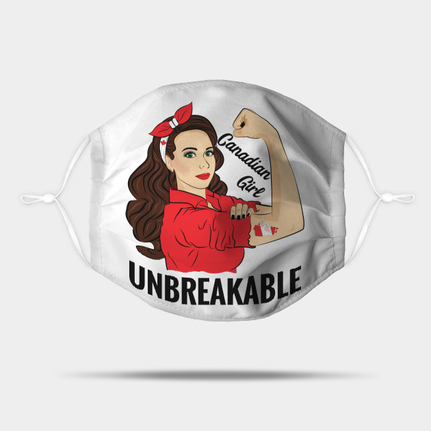 Canadian Flag Canada Girl Unbreakable