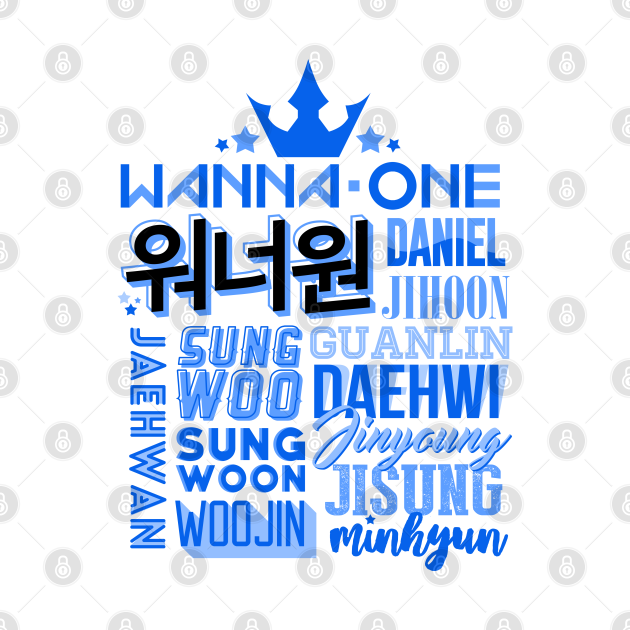 Wanna One Font Collage