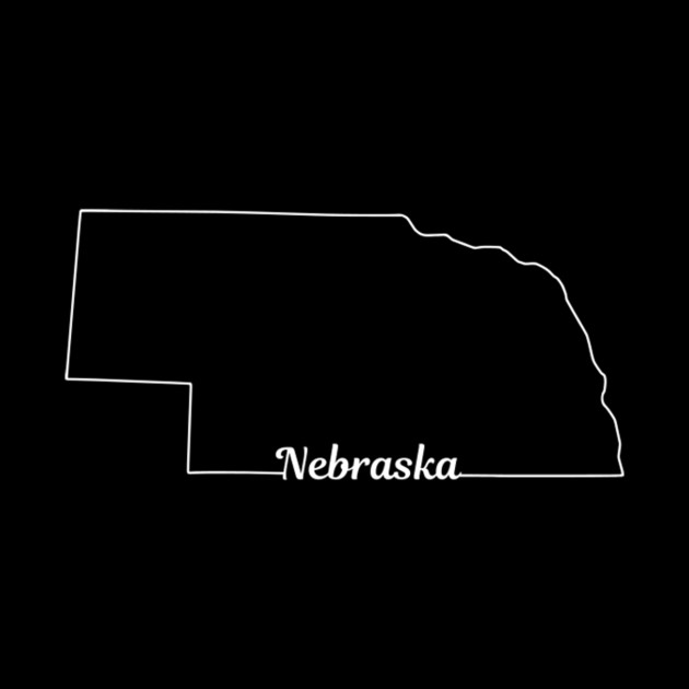 Nebraska State Pride Usa Map Nebraska Tapestry Teepublic - Us-map-nebraska-state