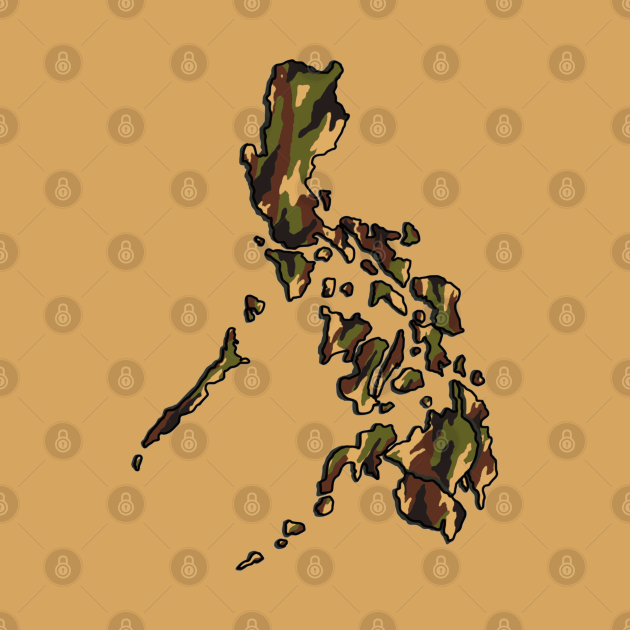 PHILIPPINE MAP CAMO PATTERN FILIPINO DESERT SAND
