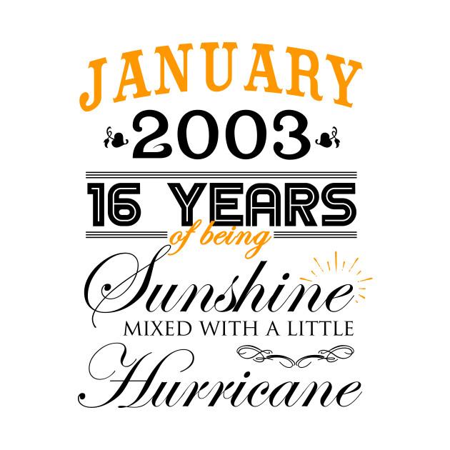 16th Wedding Anniversary.January 2003 Shirt 16th Wedding Anniversary 16 Years Of Marriage