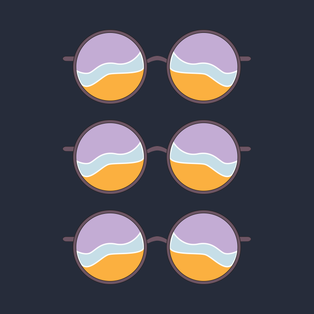 Wavy Sunglasses Triple