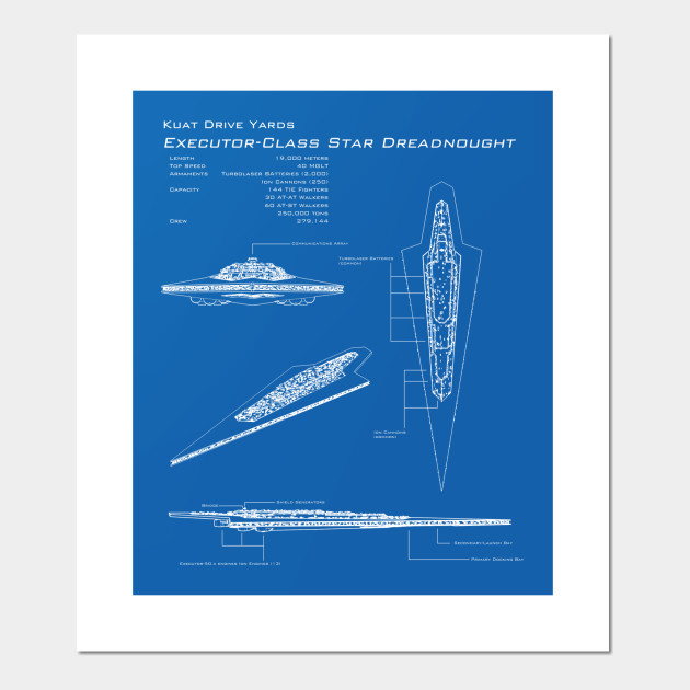 Executor Super Star Destroyer Blueprint Star Wars Posters And