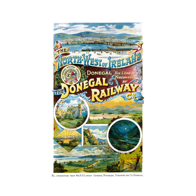 Vintage Travel Poster Ireland The North-West of Ireland Donegal