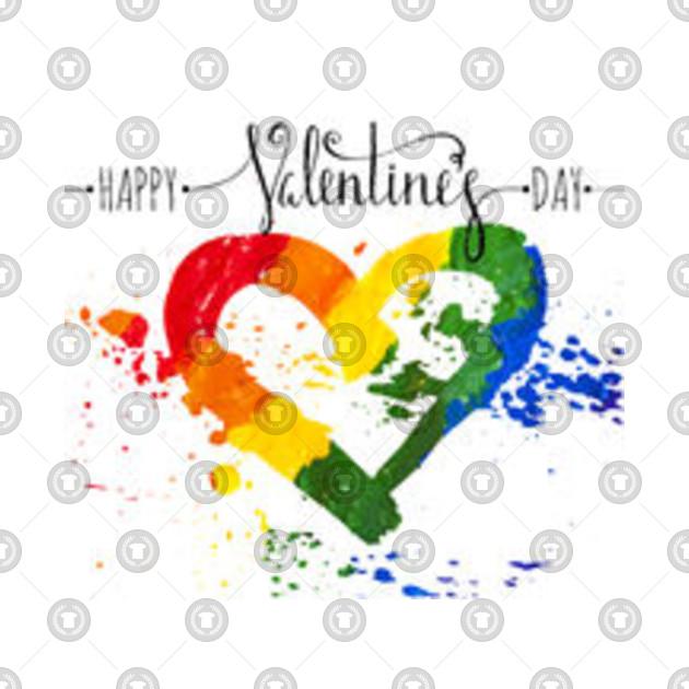 HAPPY VALENTINES DAY - Valentines Day - T-Shirt | TeePublic UK