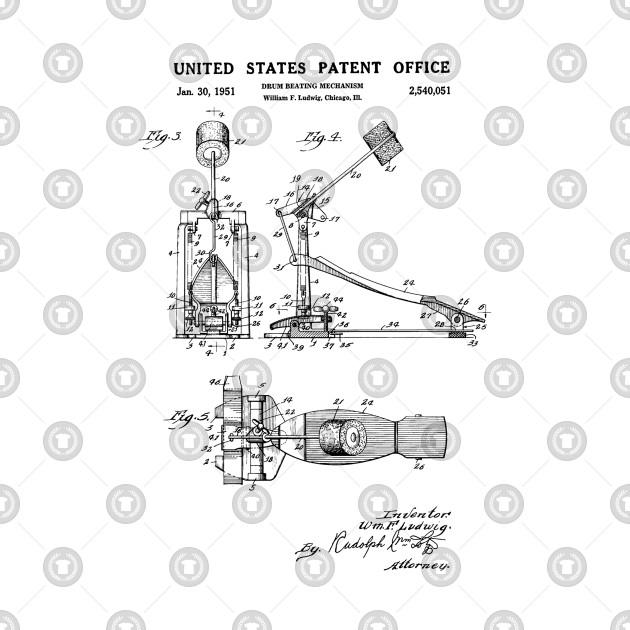 Bass Drum Pedal Patent Black