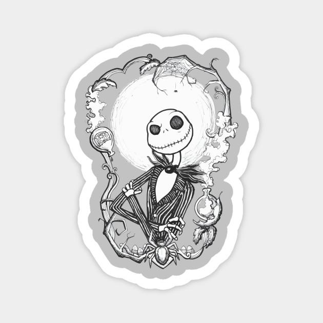 Happy Halloween Jack Skellington Jack Magnet Teepublic