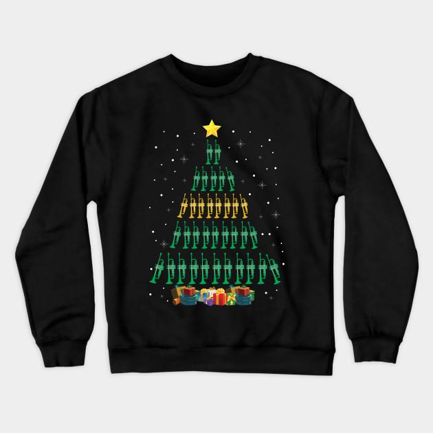Trumpet Lover Christmas Tree Merry Xmas Ugly Christmas Sweater Sweatshirt