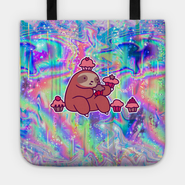 Sloth Tote Bag Sloth Gifts Sloth with Cupcake Sloth Lover Gifts
