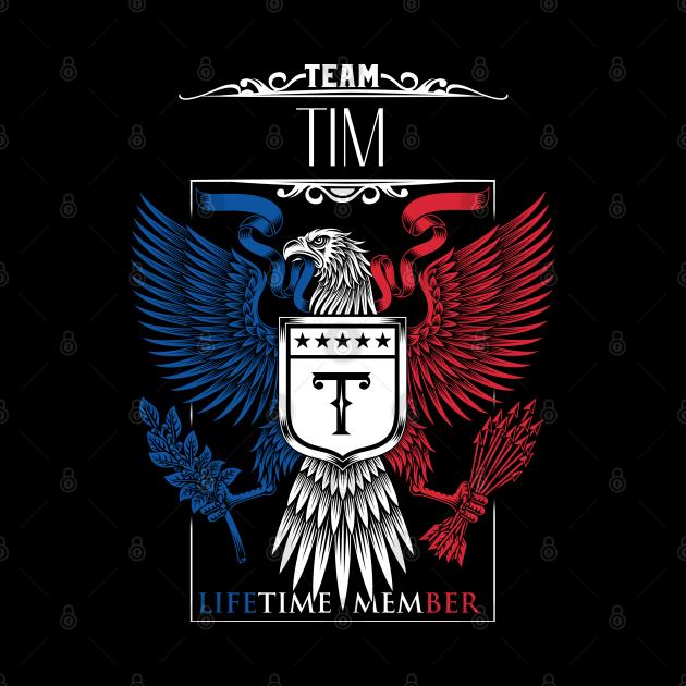 Team Tim Lifetime Member, Tim Name, Tim Middle Name