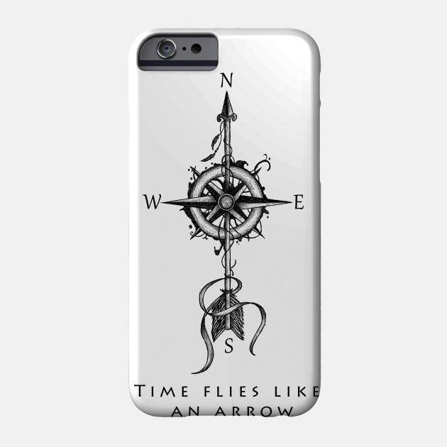 Time Flies Like An Arrow Compass With Arrow Tattoo Carpe Diem