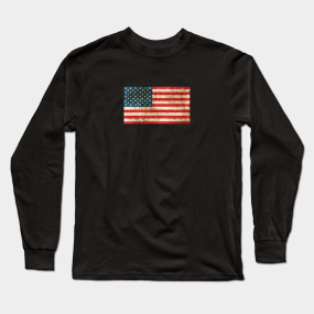 97772818f7d Vintage American Flag Long Sleeve T-Shirts